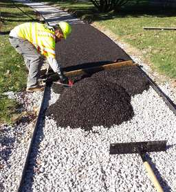 Porous Pave: Permeable Paving Materials that Pours in Place like Concrete