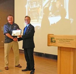 Livermore, CA Mayor John Marchand recognizes Don Morgan, Operations Director for RK Group, Inc.