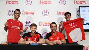 LFC players Adam Lallana and Rickie Lambert delight fans at  Dunkin Donuts and Baskin-Robbins meet and greet in Kuala Lumpur