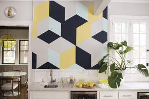 abstract wall paint design
