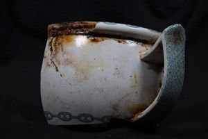 Chinaware recovered from the wreck of the steamship Connaught.