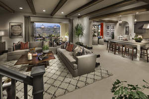 The Residence 2 model home at Brookfield's Descanso community boasts an open great room leading to outdoor space. The home will compete for Best Architecture in the 2015 Building Industry Association of San Diego Icon Awards on September 19.