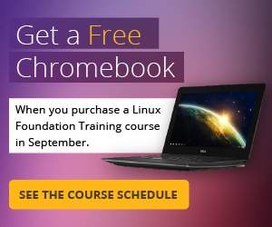 Linux Foundation Puts Free Chromebooks in the Hands of Its Training Students Throughout September