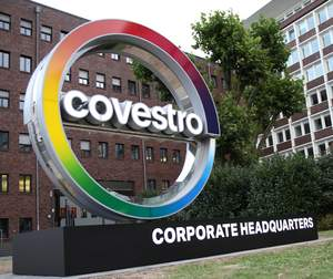 Covestro has a colorful new logo. Its headquarters remain in Leverkusen, Germany