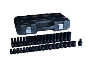 Today GearWrench added nine new Impact Socket sets to its Impact Product Line, including the 39-piece 1/2'' drive 6 point SAE standard and deep impact socket set shown here.