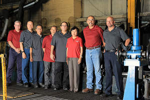 President Blanton Bartlett (on the left) and Vice President Steve Rogers (on the right), are proud to work alongside original employees (from left to right): John Ngo, Lyle Ung, Kim Vun, Joe Battaglia, Heidy Moon, Jorge Rodas, Kant Wong (not in the picture) and Peter Chang (not in the picture).