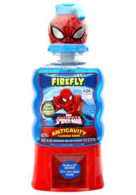 The New Firefly Spider-Man Fun Pump Rinse Helps Kids Fight Cavities Like a Super Hero