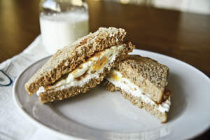Herbed Cream Cheese and Egg Sandwich
