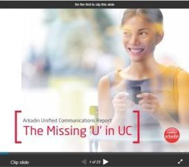 Arkadin Unified Communications Report: The Missing 'U' in UC