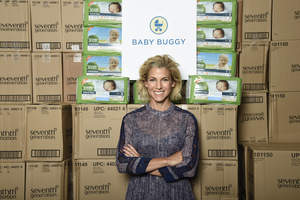 Baby Buggy founder Jessica Seinfeld celebrates the success of Change For Good,a Seventh Generation partnership with Baby Buggy. Together, the organizations donated more than 1.5 million diapers to families in need.