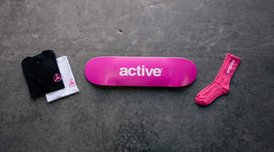 In an effort to stomp out breast cancer, Active is very proud to present its 2015 collaboration with Boarding for Breast Cancer (B4BC) in support of Breast Cancer Awareness Month. Active will donate $2 from every B4BC x Active t-shirt, skateboard deck or pair of socks sold with the goal of raising $30,000.  Check out the complete Active x B4BC collection here: http://www.activerideshop.com/clothing/collections/boarding-for-breast-cancer-awareness