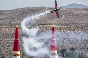 Kirby Chambliss competes in the Red Bull Air Race at Las Vegas Motor Speedway in 2014.  Photo Credit: Predrag Vuckovic/Red Bull Content Pool
