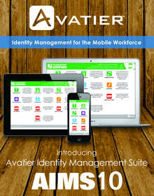 Avatier Identity Management Suite (AIMS) 10 a mobile framework for enterprise information security