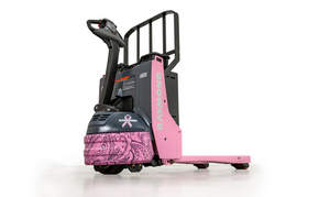 Raymond Handling Concepts Corporation (RHCC), a leading materials handling equipment supplier in Northern California and the Northwest, announced today that its second annual online auction, The Pink Pallet Jack Project, is currently live on eBay and will be open until noon on October 14.  Those interested in supporting the cause can bid on the Pink Pallet Jack Project here: http://www.ebay.com/itm/Pink-Raymond-Pallet-Jack-8210-for-Breast-Cancer-/171954307334?hash=item2809468106