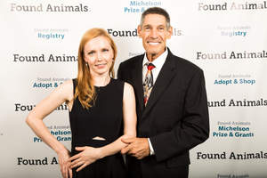 Found Animals founder, Dr. Gary Michelson and his wife, Alya, at the 4th annual Found Animals Gala, which honored outstanding animal welfare champions, at the SLS Hotel.