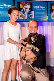 Hope for Paws founder, Eldad Hagar, was one of the honorees recognized at the annual Found Animals Gala at the SLS Hotel.  Mr. Hagar has personally saved thousands of pets through his foster and rescue efforts, and his rescue videos have amassed more than 100 million YouTube views.