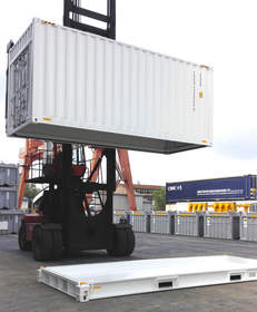 CakeBoxx intermodal shipping container TrusDek 20-foot Hi-Cube CustomBoxx with doors