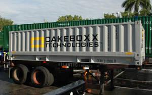 CakeBoxx intermodal cargo shipping container TrusDek 20 ShortBoxx