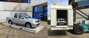 CakeBoxx intermodal shipping container TrusDek 20 Hi-Cube CustomBoxx recessed floor doors