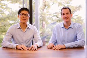 EverString co-founders Vincent Yang (CEO) and J.J. Kardwell (President)