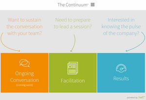 The Continuum an online support solution helping organizations sustain strategy execution