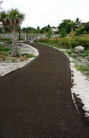 A pour in place permeable material, Porous Pave conforms to any landscape design