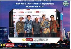 From left to right: Mr. Fernanda Reza Muhammad, Director of PT JavaLand Promosia Indonesia, Mr. Christopher Koh, Director of PT JavaLand Promosia Indonesia, Komang Derana (PT Satya Indosin Laksana), Dr Seh Huan Kiat, CTO of CoAssets, Mr Getty Goh, CEO of CoAssets