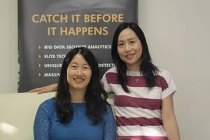 Left to right: DataVisor co-founders Fang Yu, CTO and Yinglian Xie, CEO