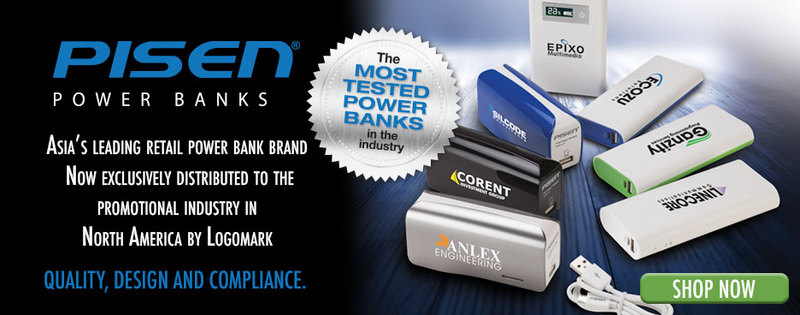 Logomark Partners With Pisen to Bring Asia's Largest Retail and Most Tested Power Bank Brand to Promotional Industry