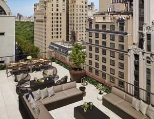 The terrace of the Quin's new Penthouse Suite