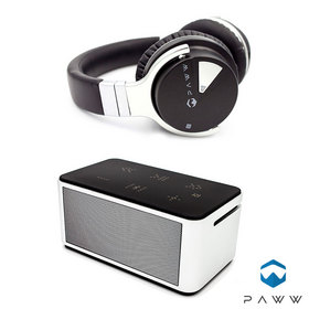 WaveSound 2 Headphones and SoundBox 10 Speaker by Paww