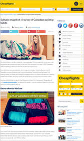 Cheapflights.ca Suitcase snapshot: Survey of Canadian packing habits,packing style,packing practices