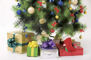 Gifts under a Christmas tree