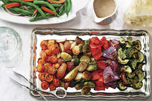 Roasted Winter Veggies and Tri-Colored Potatoes