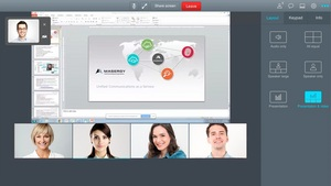 5-Person Video Call in Masergy's Virtual Meeting Room