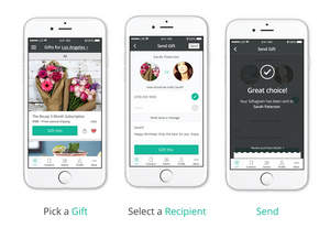 Digital Shop Allows Users to Send Gifts from Top Brands Without the Recipient's Mailing Address