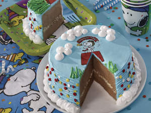 Peanuts Everyday Ice Cream Cake