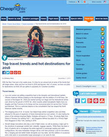 Cheapflights.com Top travel trends and hot destinations for 2016 for Americans,American travel