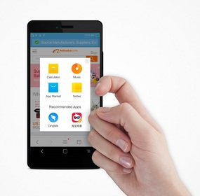 Touchscreen technology allows knuckle input for more advanced options on mobile devices