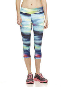 Woman wearing capri workout pants