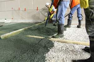 Porous Pave: Mixes in Standard Mortar Mixer, Cures in Less than 24 Hours