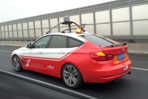 Baidu's autonomous car on a road test