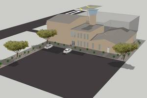 The following two architectural renderings depict The Aerodrome�s Eldorado Droneport upon completion (approximately three years).  A five-acre parcel of this project is already operational today.