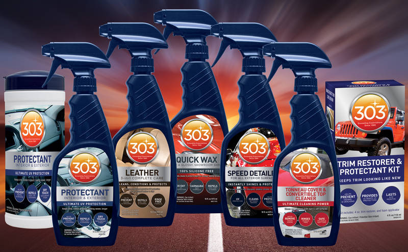 303 Products Introduces New, Innovative Automotive Appearance Care Line to Help Consumers Keep Their Vehicles Looking Great