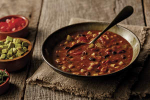Southwestern Bean and Pasta Soup