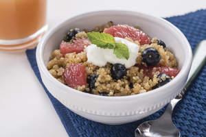 Quinoa Grapefruit Blueberry Breakfast