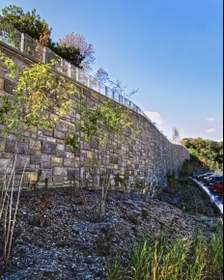 retaining wall, precast, Smith-Midland, precast concrete panels, Smithsonian Zoo