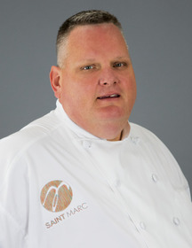 Jarod (Jay) Bogsinke -- master chef and senior director of culinary operations for Saint Marc USA.