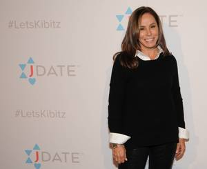 To showcase and share in the highs, lows and laughs of dating, singles, couples and celebrities, including host and executive producer Melissa Rivers, came together for the first-ever #LetsKibitz comedy showcase hosted by the newly refreshed JDate. (Photo by Carlos Delgado/Invision for JDate/AP Images)