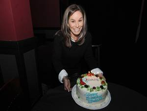 Melissa Rivers celebrated her birthday at the first-ever #LetsKibitz comedy showcase hosted by the newly refreshed JDate at the Hollywood Improv in Los Angeles on Jan. 20. (Photo by Carlos Delgado/Invision for JDate/AP Images)